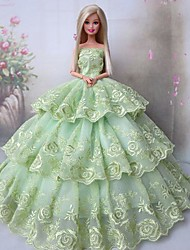 Barbie Doll Party Dress for Lady Greensleeves