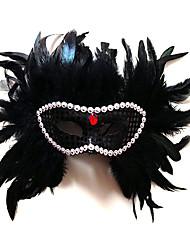 Deluxe plume masques de mardi gras