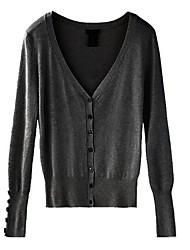 Women's Fashion Shell Button V Neck Jumper Knitwear Cardigan