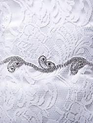 Faixa Cetim/Cetim/Tule Faixas para Mulheres Casamento/Festa/Noite/Dia a Dia Pedraria