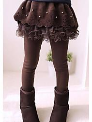 polainas de perlas capa imitación costura tul culottes de la muchacha (perlas aleatorios)
