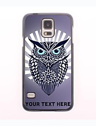 Personalized Phone Case - Hawk Owl Design Metal Case for Samsung Galaxy S5