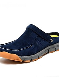 Men's Shoes Casual Leather Clogs & Mules Blue/Yellow