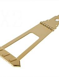 Jazz Bass Tailpiece Bridge Gold Tone Musical Instrument Part