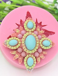 Jewelry Shaped Fondant Cake Chocolate Silicone Mold,Cupcake Decoration Tools,L6.9cm*W6.9cm*H2.1cm