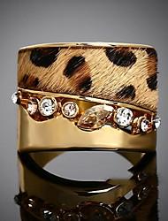 Women's Fashion Personality Leopard Gemstone Diamante  Ring