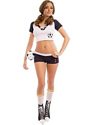Cheerleader Costumes Women's Fashion Short Sleeve Dance Performance Outfit with Socks