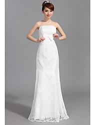 trompette / sirène bustier princesse train chapelle mousseline et la robe de mariée en satin stretch