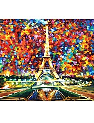 """Oil Painting The Eiffel Tower Design Full-Body Protective Plastic Case for 13""""/15"""" MacBook-Pro with Retina Display"""