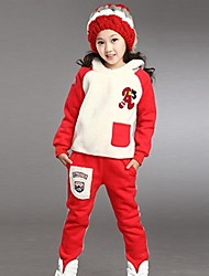 Girl's Orange / Red Clothing Set,Print Cotton Winter / Spring / Fall