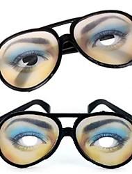 1 Pair Women Eye Print Practical Joke Funny Glasses for Halloween Costume Party(15.5x6cm)