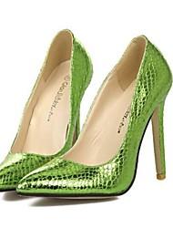 Scarpe Donna - Scarpe col tacco - Formale / Serata e festa - Tacchi / A punta - A stiletto - Finta pelle - Verde