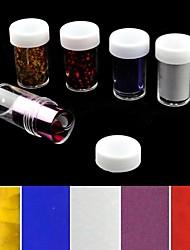 5pcs лазерной фольги для ногтей украшения звездные наклейки для ногтей (150x4x0.1cm)