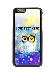 caso de telefone personalizado - sonha o caso coruja design de metal para o iPhone 6