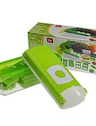 coupe-légumes multifonctionnel, ABS + acier inoxydable de 27,5 × 10,5 × 11 cm (10,9 × 4,2 × 4,3 pouces)