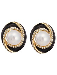 Woman's Fashion Luxury Round Pearl Earring