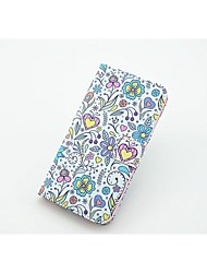 Flowers Pattern Full Body Case with Stand and Card Slot for Samsung Galaxy S5