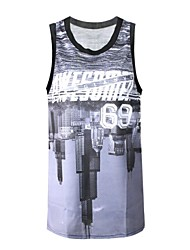 pinkqueen® женская баскетбольная 3d город отражение печатных майка