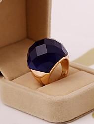 moda linda resina cor sólida facetado anel jóias das mulheres (mais cores)