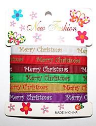 3/8 pouces croquis merry christmas de noël avec une impression ribbon- verges par rouleau (six couleurs d'une carte)