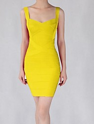 Women's Red/Yellow Dress , Sexy/Party Sleeveless