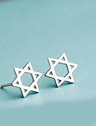 Women's Simple Silver Pierced Earrings