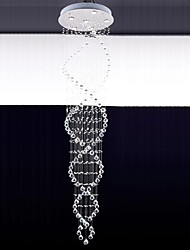 Crystal LED Lampade a sospensione a 6 luci moderne argento canpoy k9 trasparente apparecchi di illuminazione di cristallo