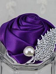 Elegant Rose Rhinestone Wedding/Party Boutonniere(More Colors)