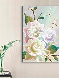 е-Home® растягивается во главе Печать холст искусство цветок эффект вспышки мигает оптоволоконной печати