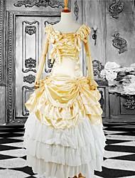 Long Sleeve Floor-length Yellow Cotton Classic Lolita Dress