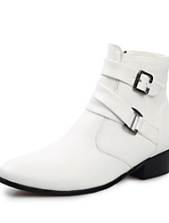 Men's Shoes Outdoor/Casual/Athletic Calf Hair Boots Black/Brown/White