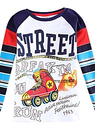 Boy's Cotton Tee,Winter / Spring / Fall Print