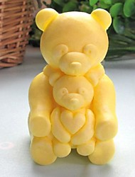 Bear Animal Heart Shaped Fondant Cake Chocolate Silicone Mold Cake Decoration Tools,L8.5cm*W6.2cm*H4.8cm