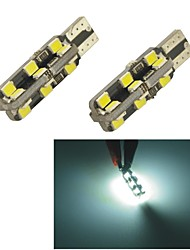 Carking™ T10-2835-24SMD LED Superbright Clearance Lamp-White Light