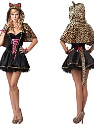 fille de diable chat léopard carnaval costume adultes femmes