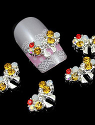 10pcs Luxury Rhinestone Bowknot DIY Nail Art Decoration