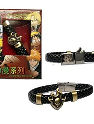 BLEACH Punk Style PU Leather Bracelet Cosplay Accessory