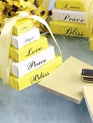 Orange Wedding Cake Stick Notes Wedding Favor