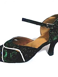 Scarpe da ballo Donna - Moderno - Customized Heel - Glitter - Verde