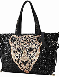 Feizi Fashion Casual Leopard Head One Shoulder Bag