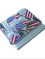 "The American Flag Style Laptops Sleeve Case and Accessories for MacBook Air/Pro 11.6""、13.3"""