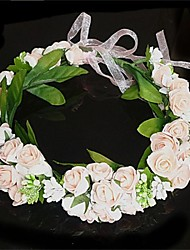 Women's Fabric Headpiece-Wedding Flowers Wreaths