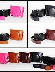 dengpin rétro pu caméra en cuir étui de protection Housse avec bandoulière pour Sony DCS-rx100ii m2 RX100 iii m3