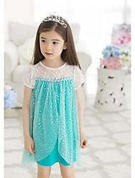 Girl's Cotton Dress , Summer/Winter/All Seasons/Spring/Fall Short Sleeve