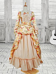 Long Sleeve Floor-length Yellow Lotus Cotton Sweet Lolita Dress