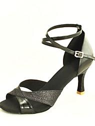 sandálias femininas personalizáveis latin sapatos de glitter espumantes de dança (mais cores)