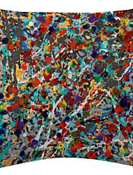 разноцветные брызги чернил картины бархат декоративная подушка крышка