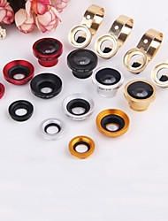 3 in 1 Metal Hooks 0.67 Wide Angle + Macro Kit Fisheye Mobile Phone Lens