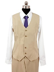 Inspired by Psycho-Pass Shogo Makishima Video Game Cosplay Costumes Cosplay Suits Patchwork Brown Long Sleeve Vest / Shirt / Pants / Tie
