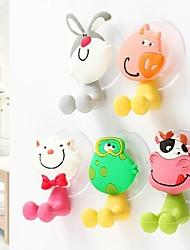 encantadora toothpast familia de dibujos animados y cepillo de dientes titular con cupula (5 animales / pack)